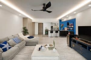 Open concept living hall