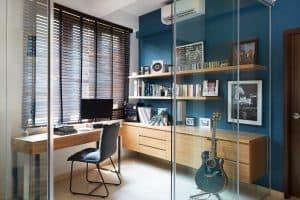 A producer studio workspace